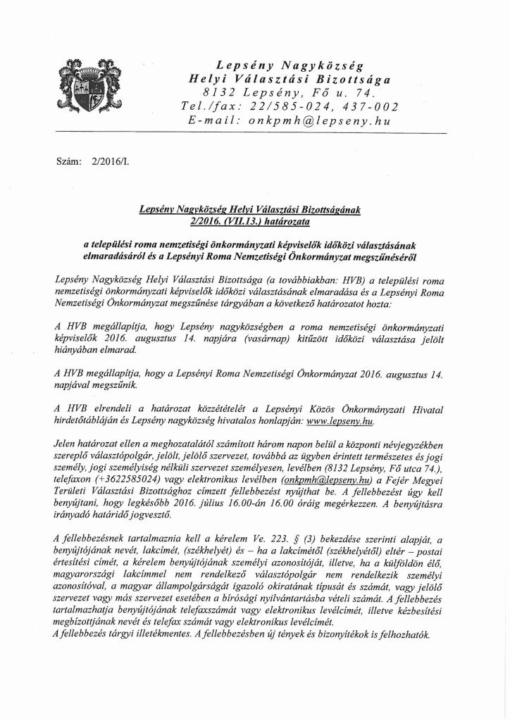 Lepsény Nagyközség Helyi Választási Bizottságának határozata.pdf-1