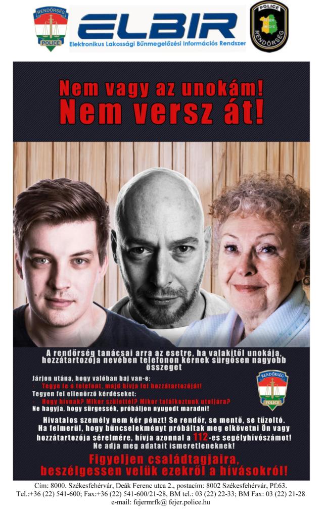 Az Elektronikus Lakossági Bűnmegelőzési Információs Rendszer eredeti plakátja