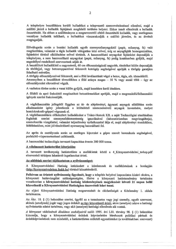 Az alábbi közlemény beszkennelve, pecséttel és aláírással ellátva (2. oldal)