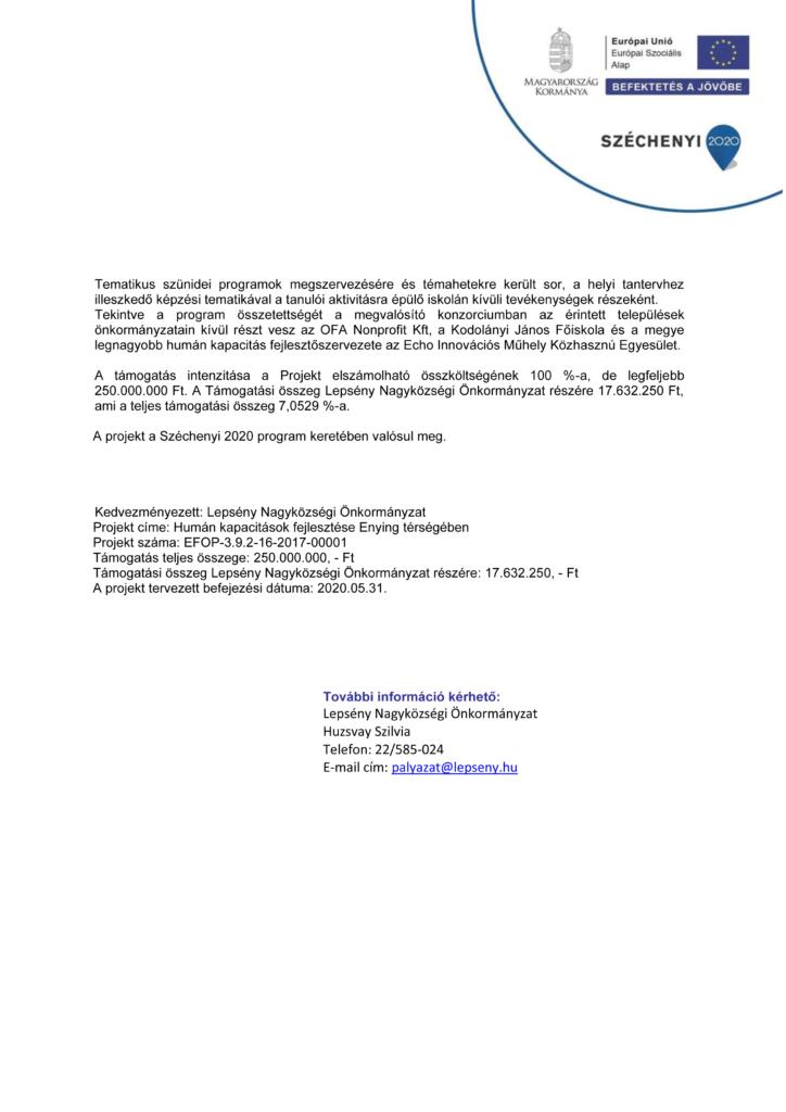 A Sajtóközlemény beszkennelt formátumban (második oldal)