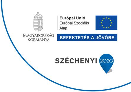 Széchenyi 2020 - Európai Szociális Alap infóblokk